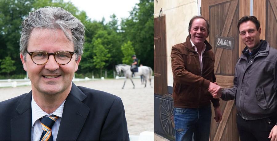 De sprekers John Bierling (links) en Bert van Wanrooij, hier met Laurens van Lieren